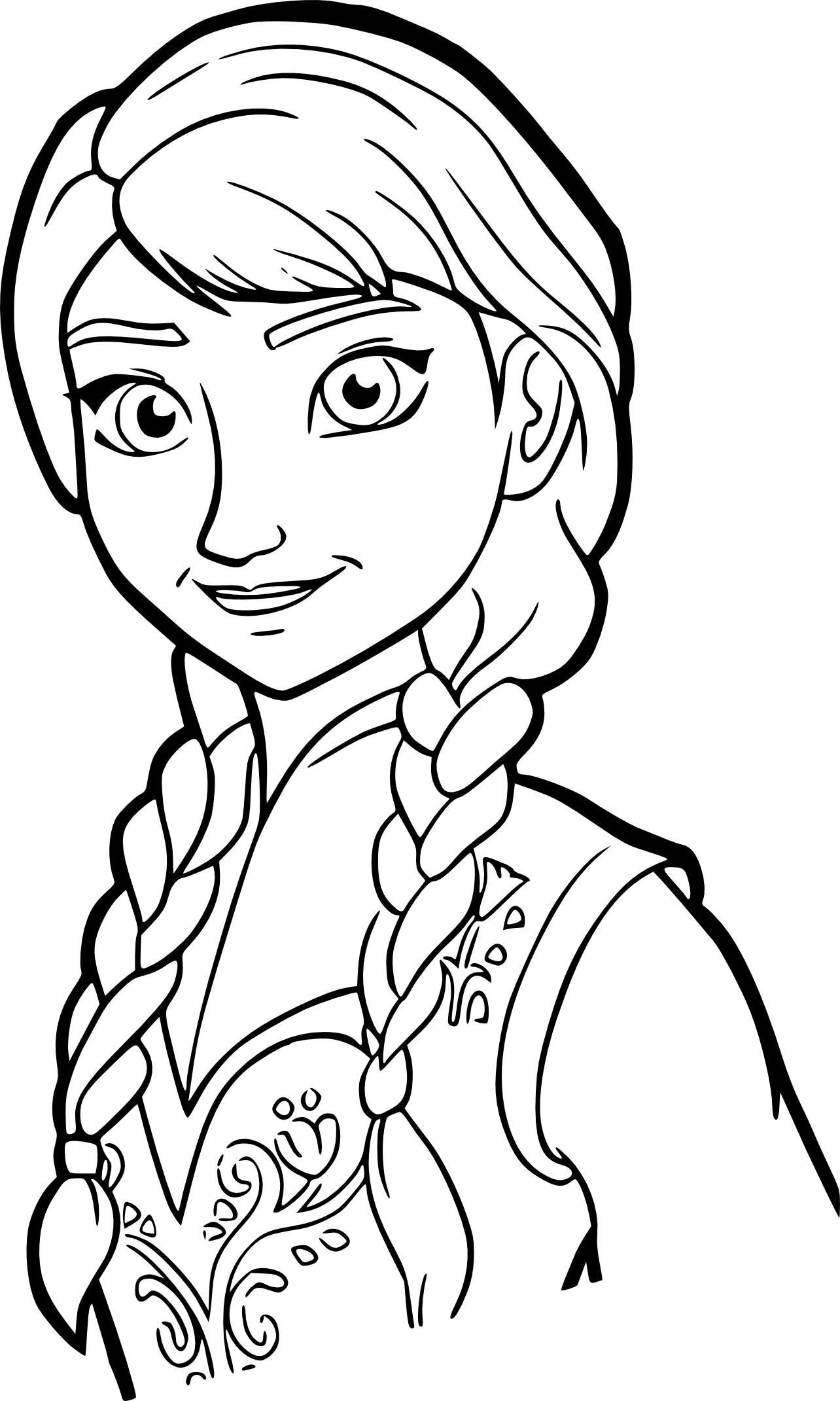 Coloriage Anna Reine des Neiges à imprimer