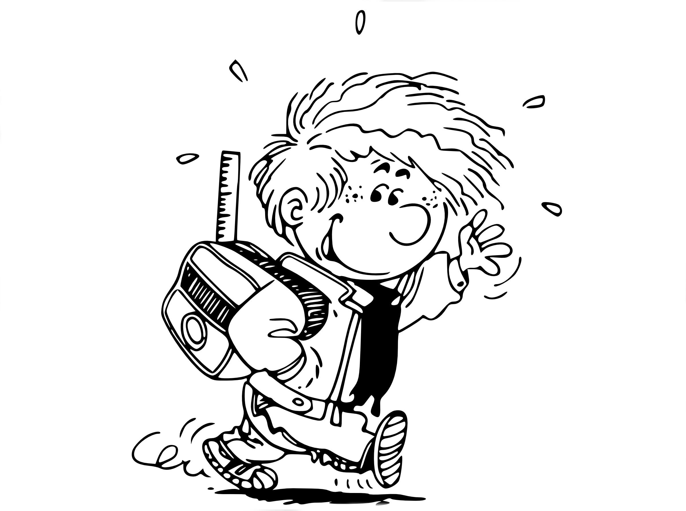 Coloriage bande dessinée Cedric
