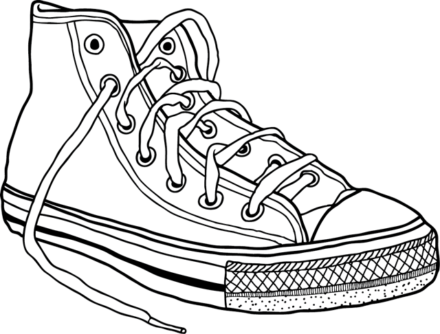chaussures converse coloriages Akileos