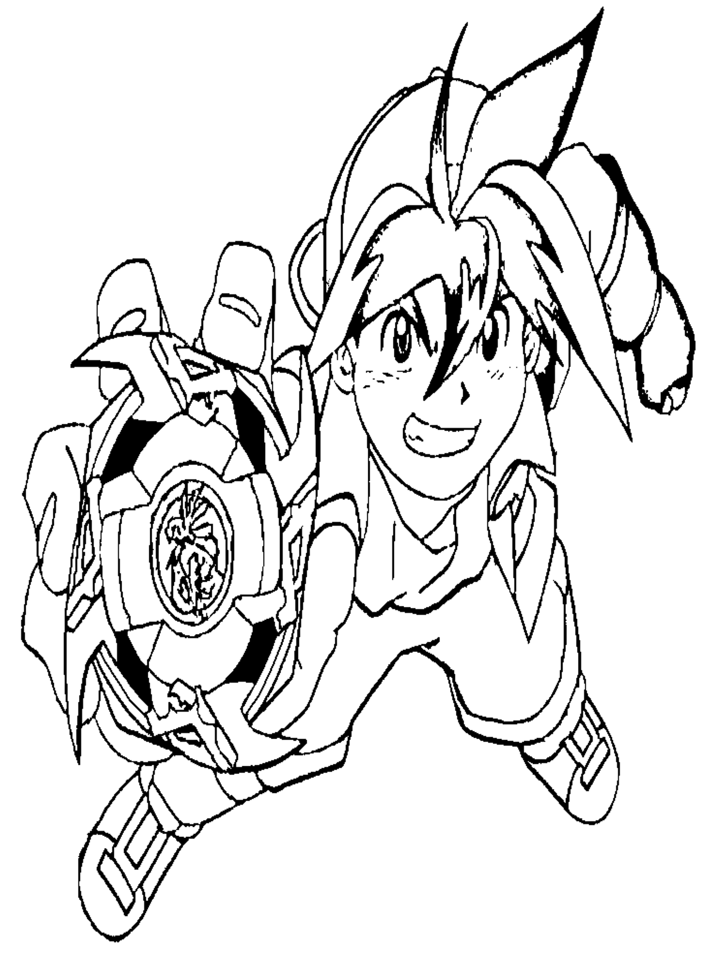 Coloriage Beyblade Tyson