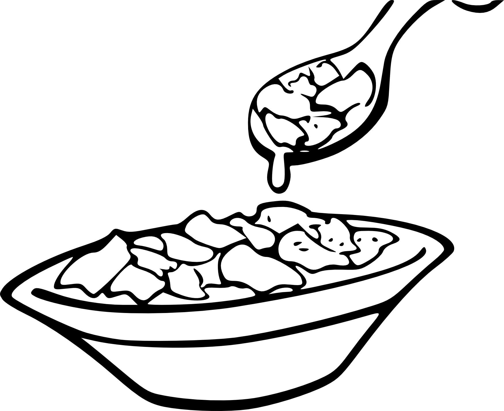 Coloriage bol de cereales
