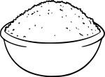 Coloriage bol de riz