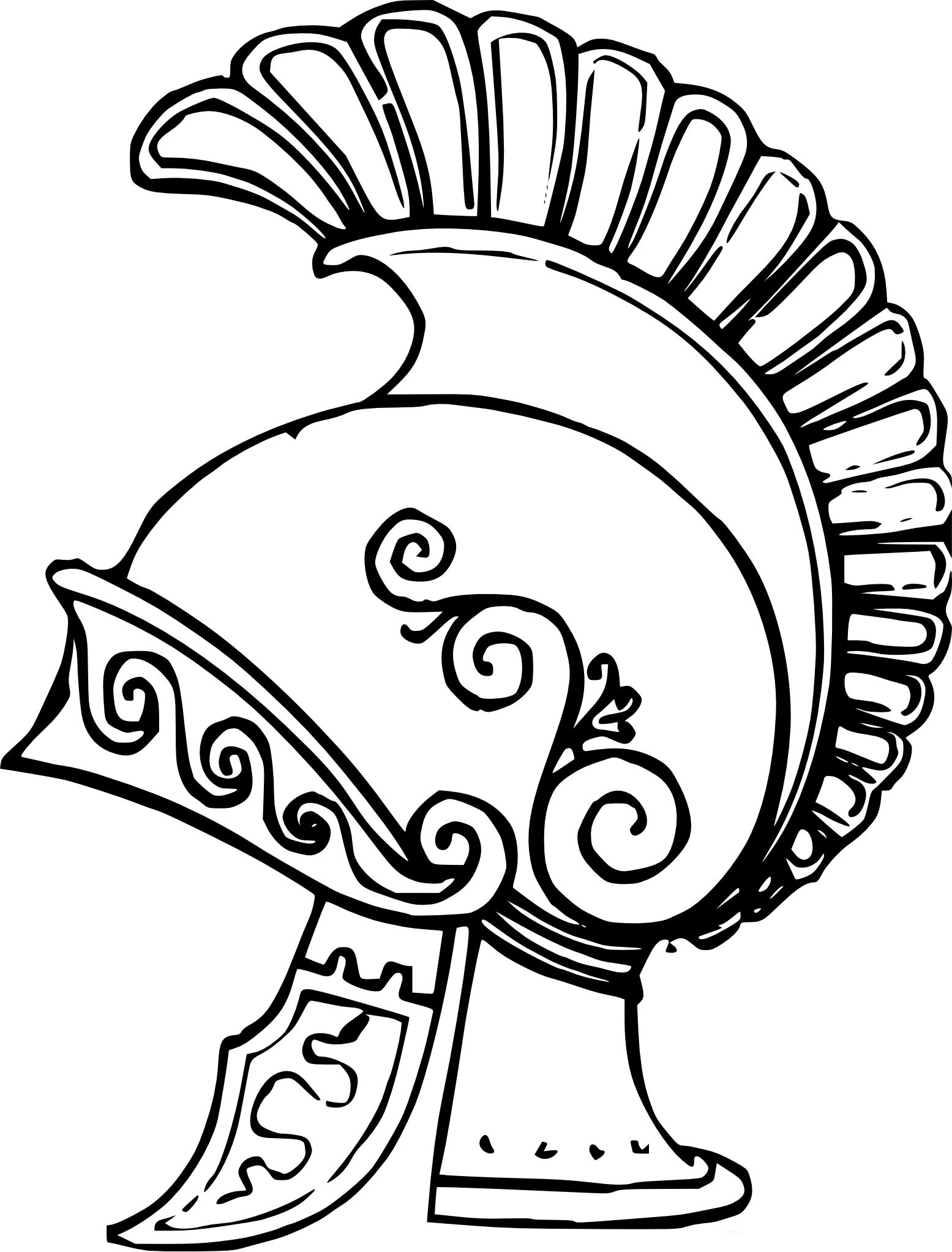 coloriage casque romain imprimer