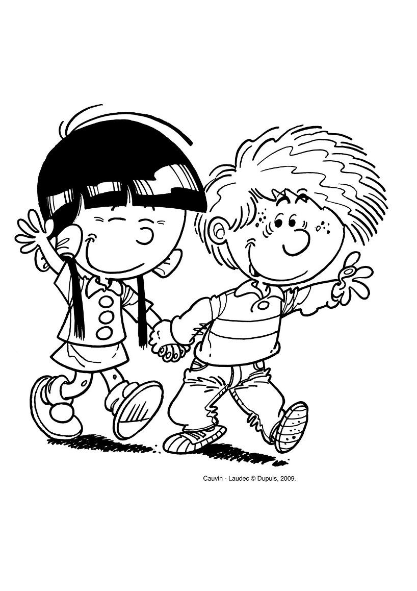 Coloriage Cedric et Chen