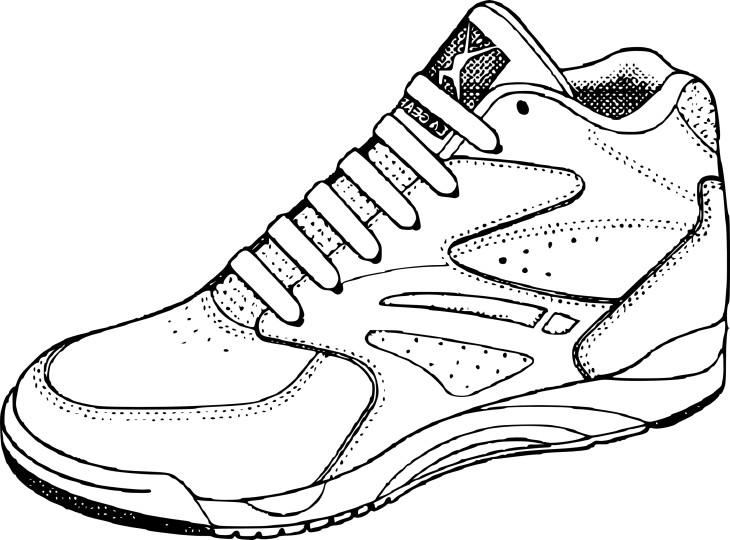 coloriage chaussure de basketball