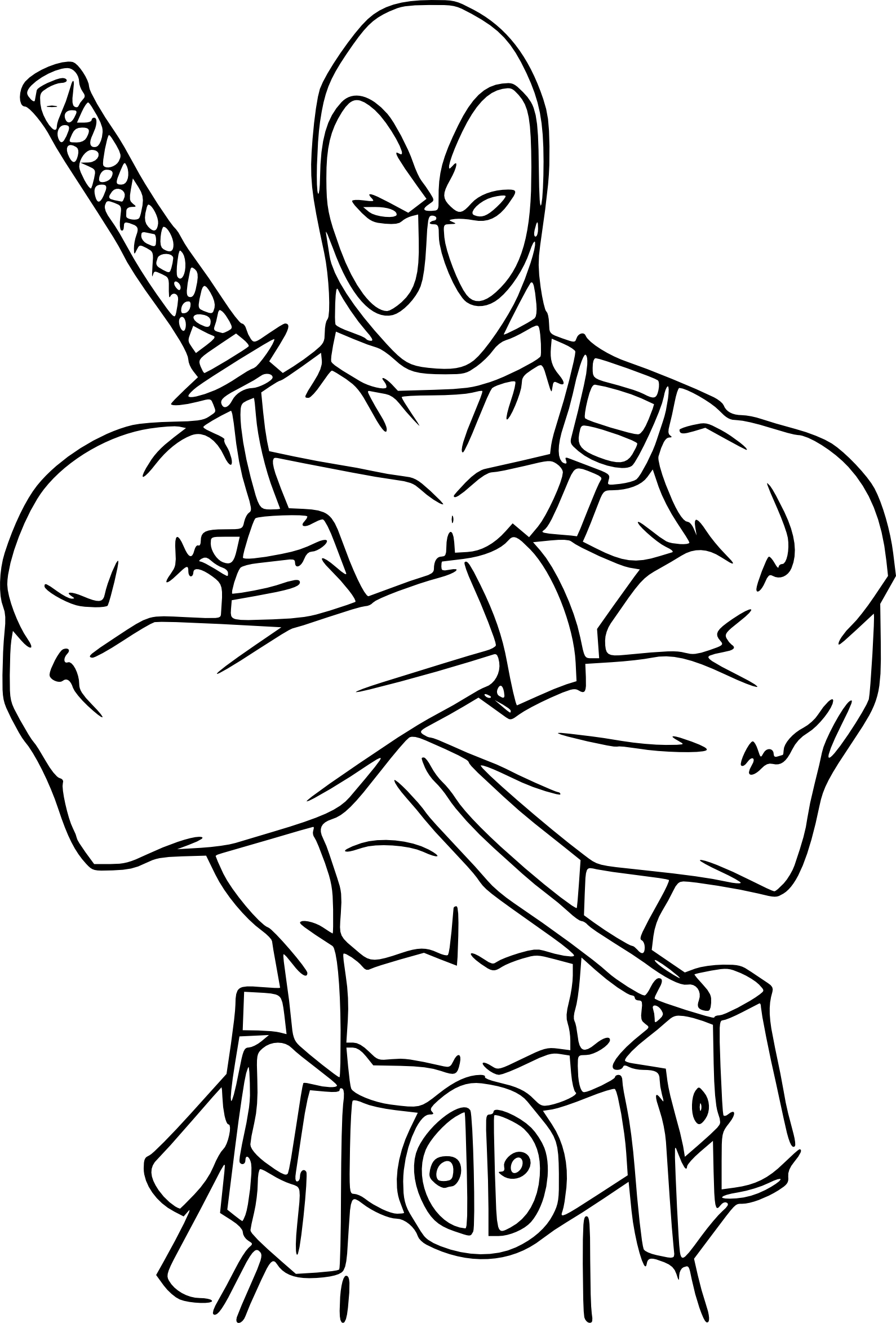 Coloriage Deadpool A Imprimer