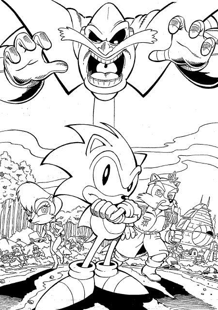 Coloriage de Sonic et ses amis