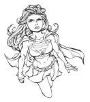 Coloriage de Supergirl