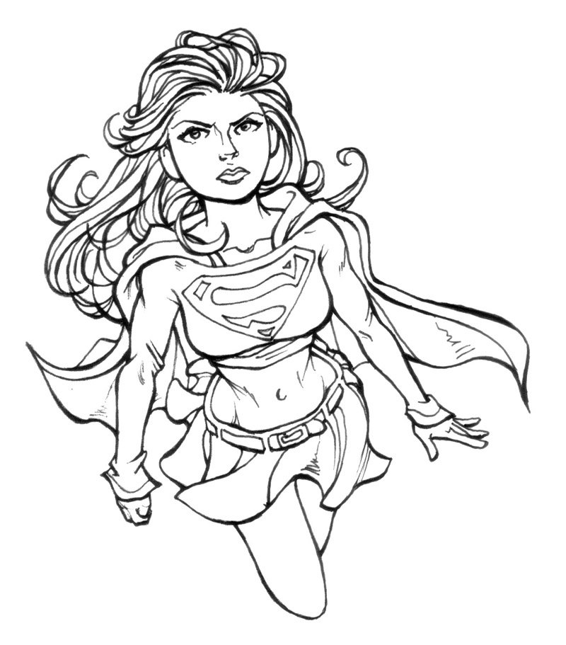 Coloriage de Supergirl