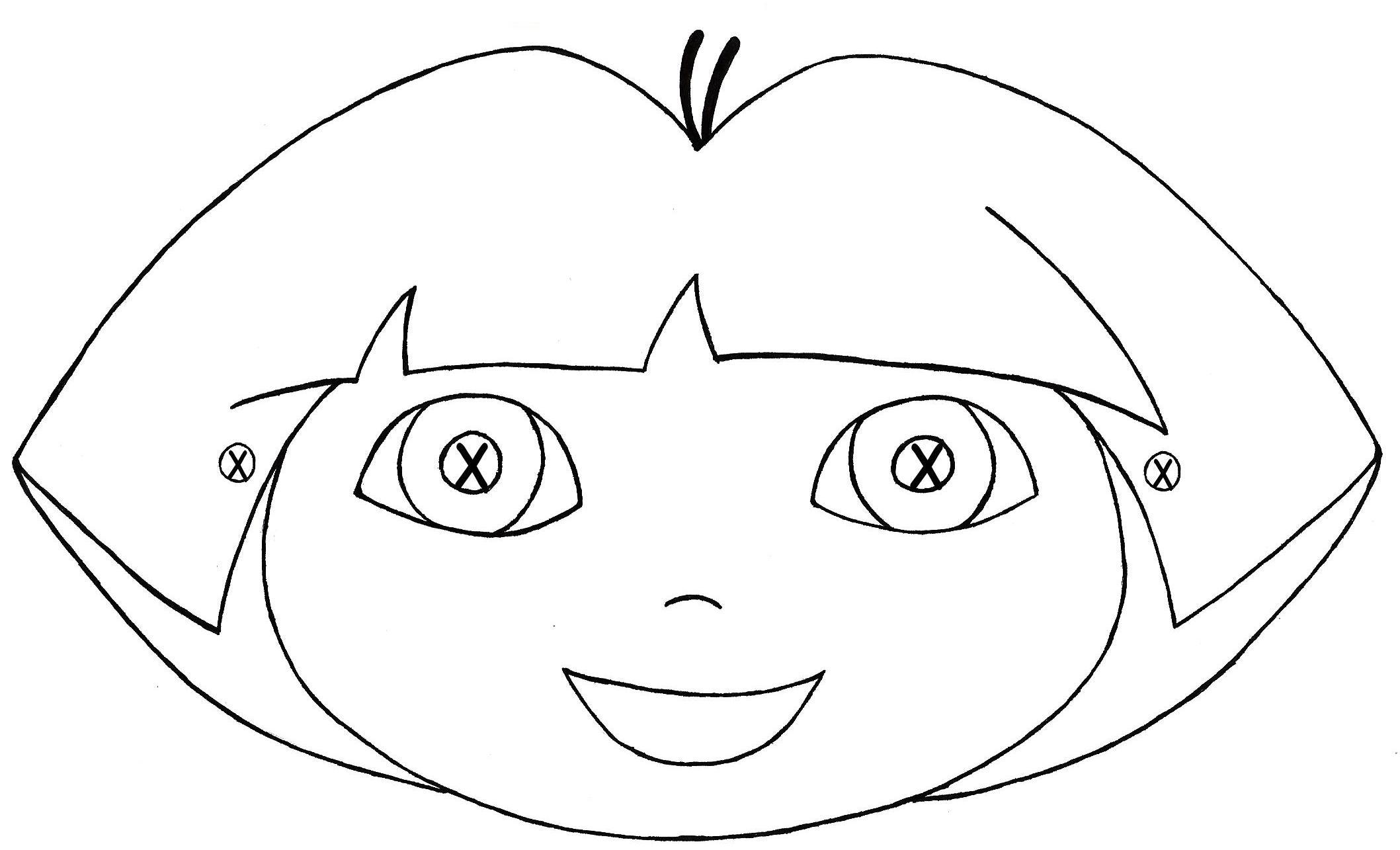 Coloriage Dora masque