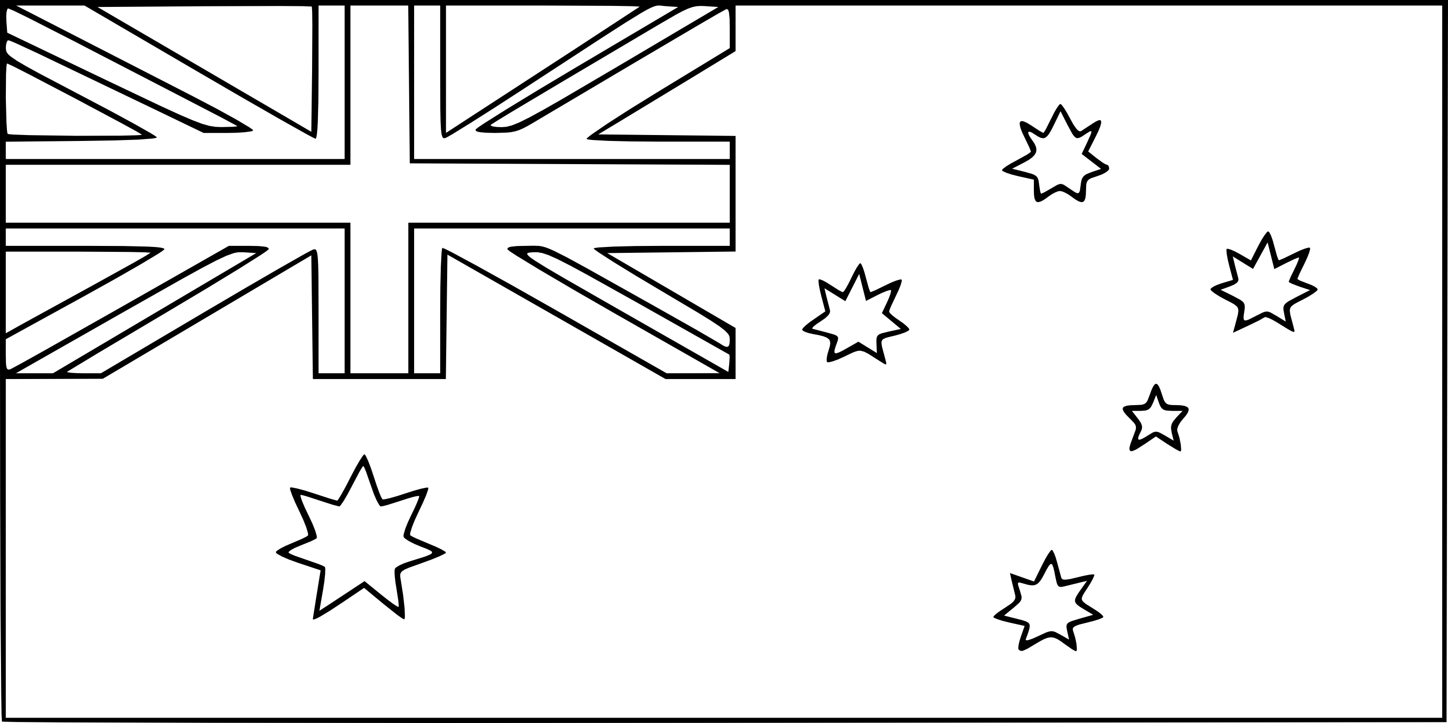 Coloriage drapeau Australie à imprimer