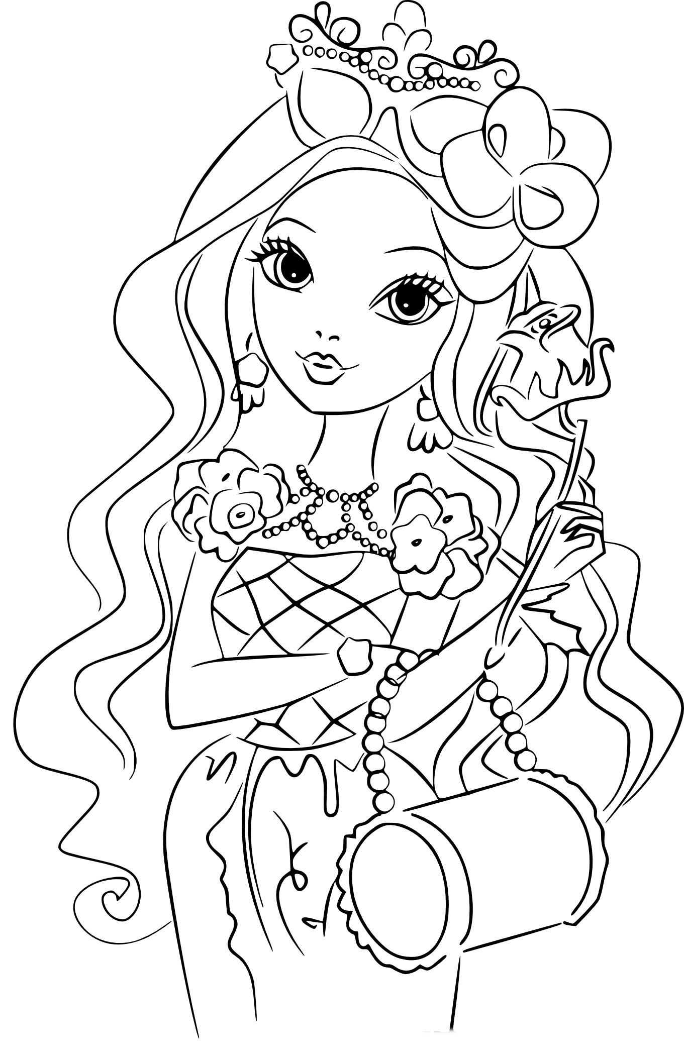 Coloriage fille Belle au bois dormant