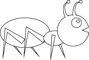 Coloriage fourmi facile
