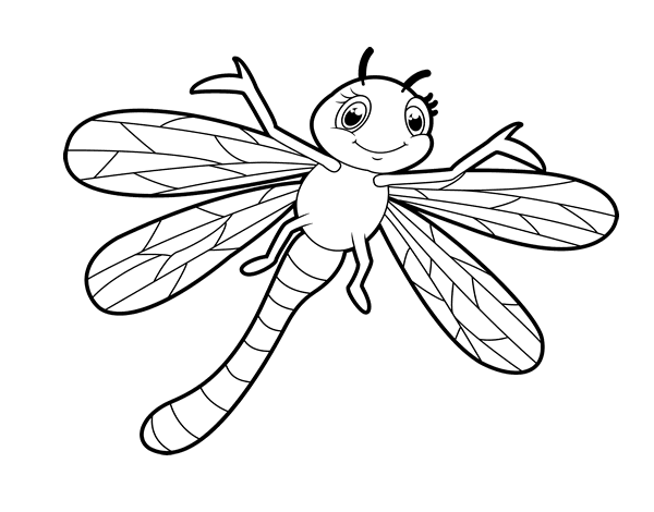 Dibujos De Insectos Para Colorear: Coloriage Libellule Facile à Imprimer