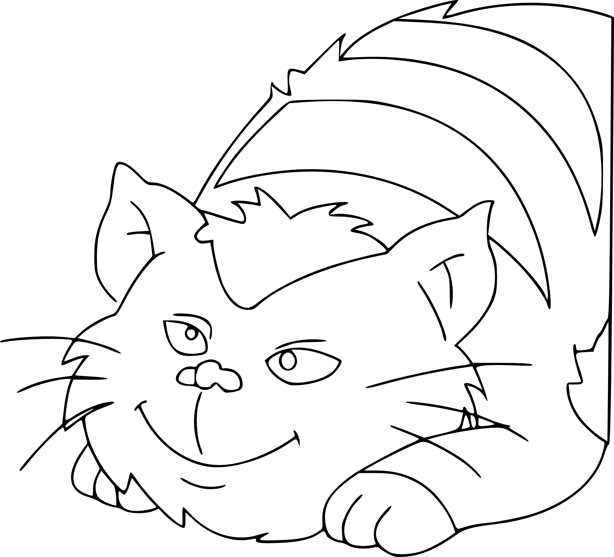 Coloriage madchat