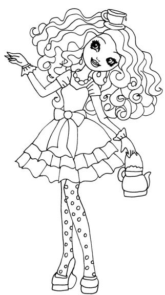 Coloriage Madeline Hatter Ever After High 224 Imprimer High Characters Coloring Pages