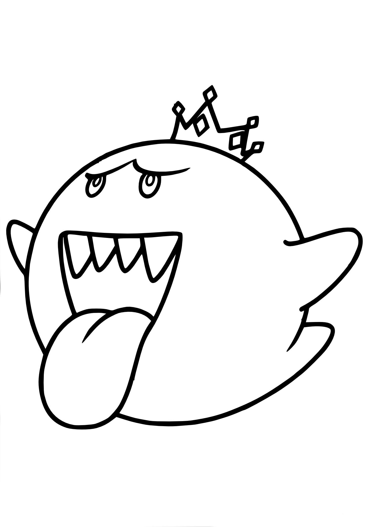 Coloriage Mario Roi Boo