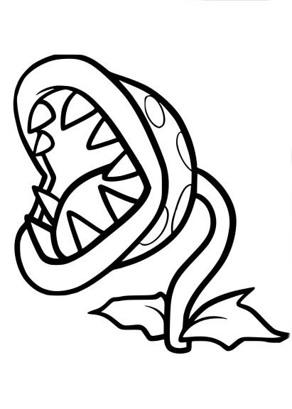 Coloriage Mario Ronce Piranha