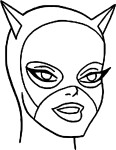 Coloriage masque catwoman
