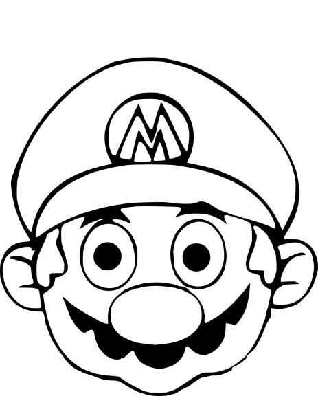Coloriage masque Mario
