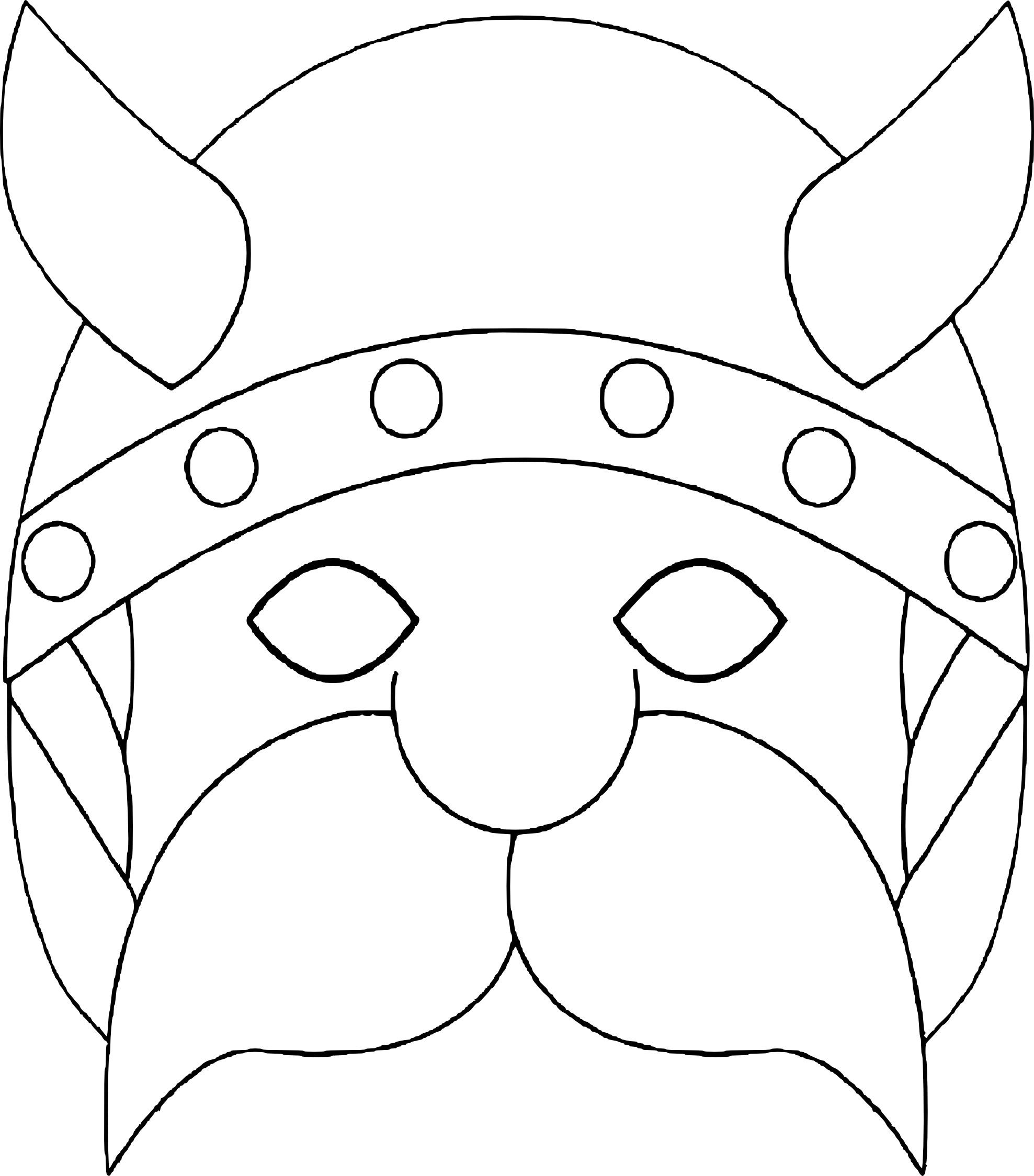 Viking Kleurplaat Coloriage Masque Viking 224 Imprimer