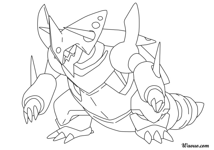 Coloriage MegaGaleking Pokemon imprimer