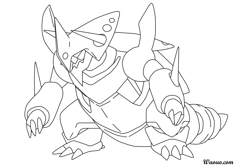 coloriage mega galeking pokemon