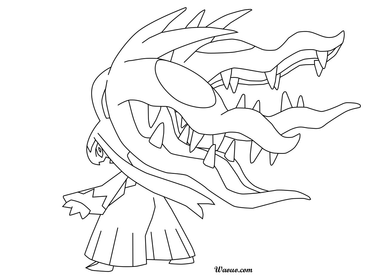 Coloriage Zorua Pokemon A Imprimer