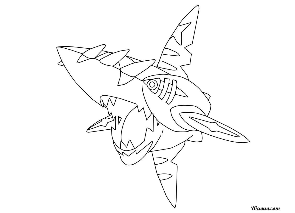 Coloriage Méga-Sharpedo