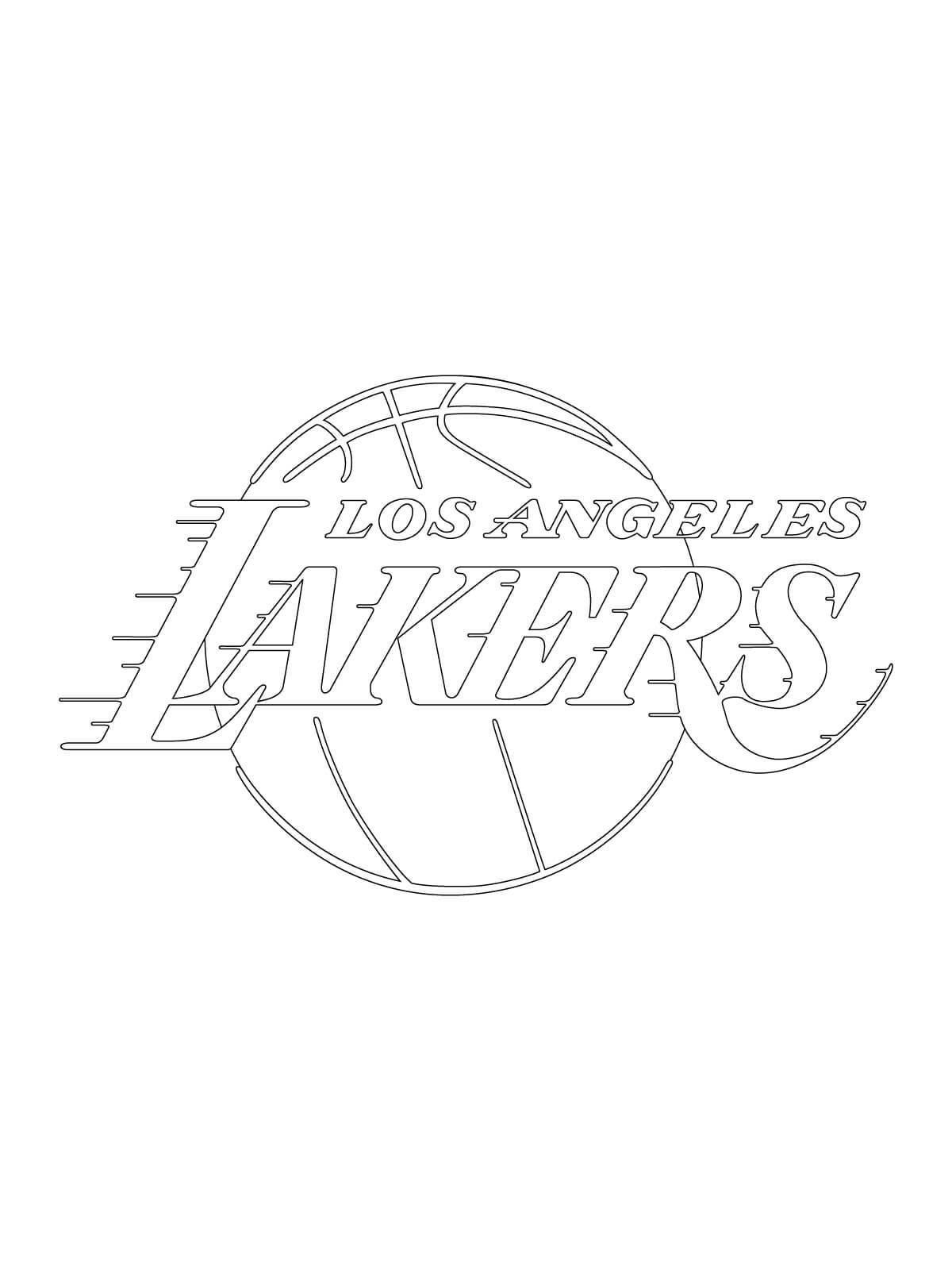 Coloriage NBA Lakers