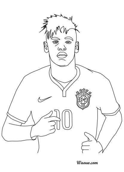 soccer coloring pages neymar barcelona - photo#14