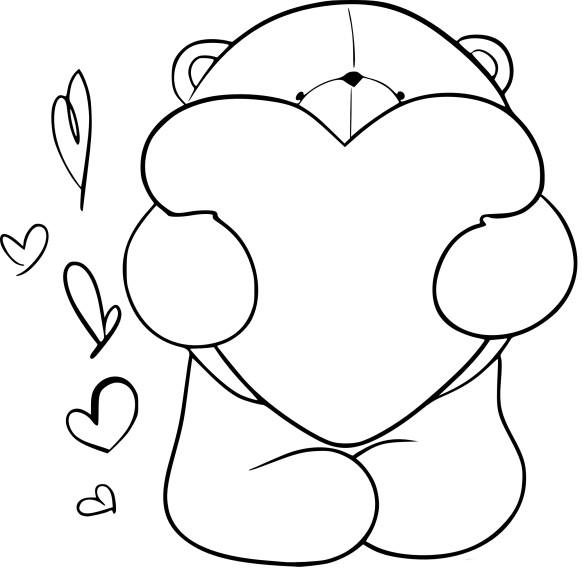 Coloriage ours en peluche imprimer - Dessin ours en peluche ...