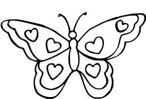 Coloriage papillon coeur