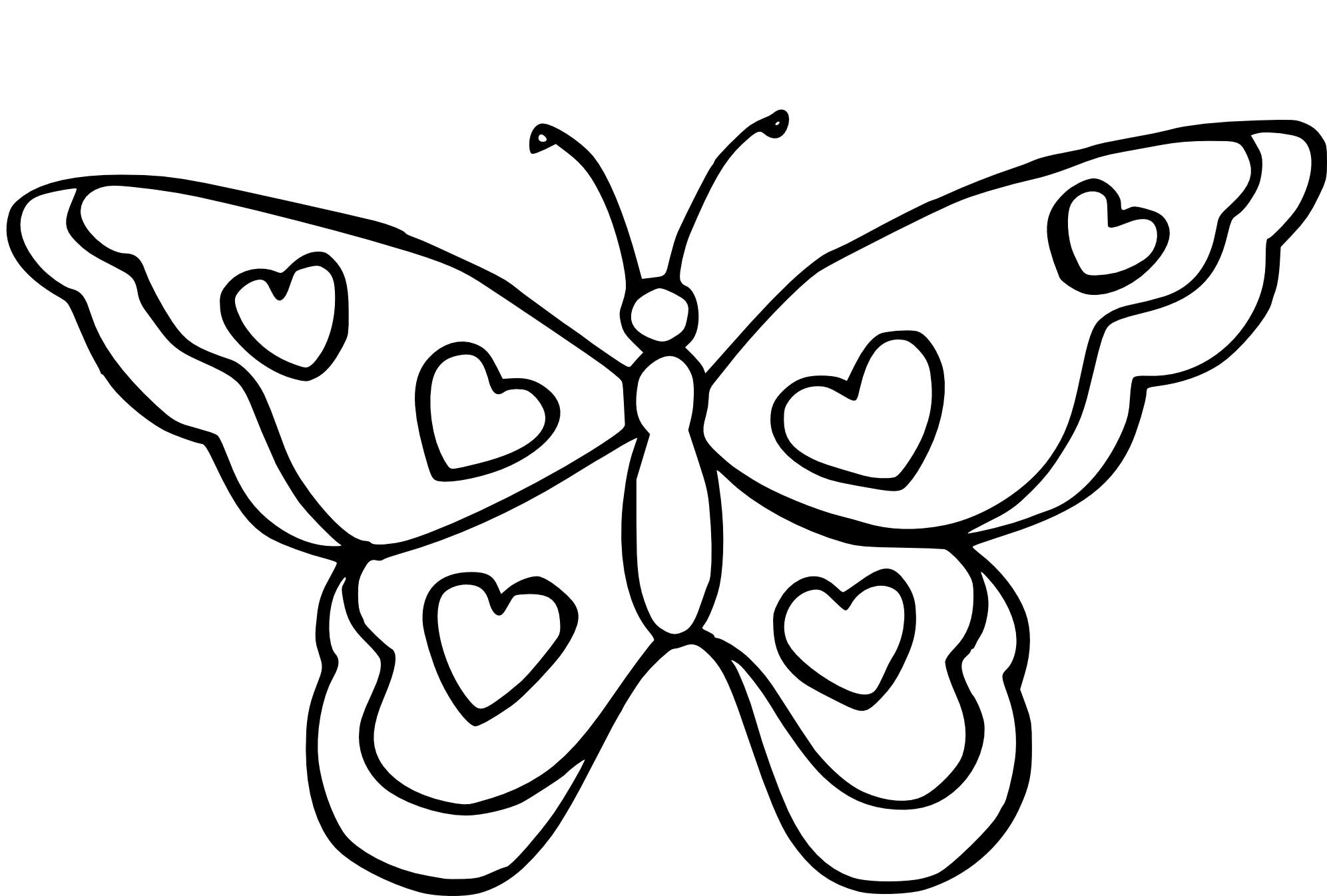 Coloriage Papillon Coeur A Imprimer