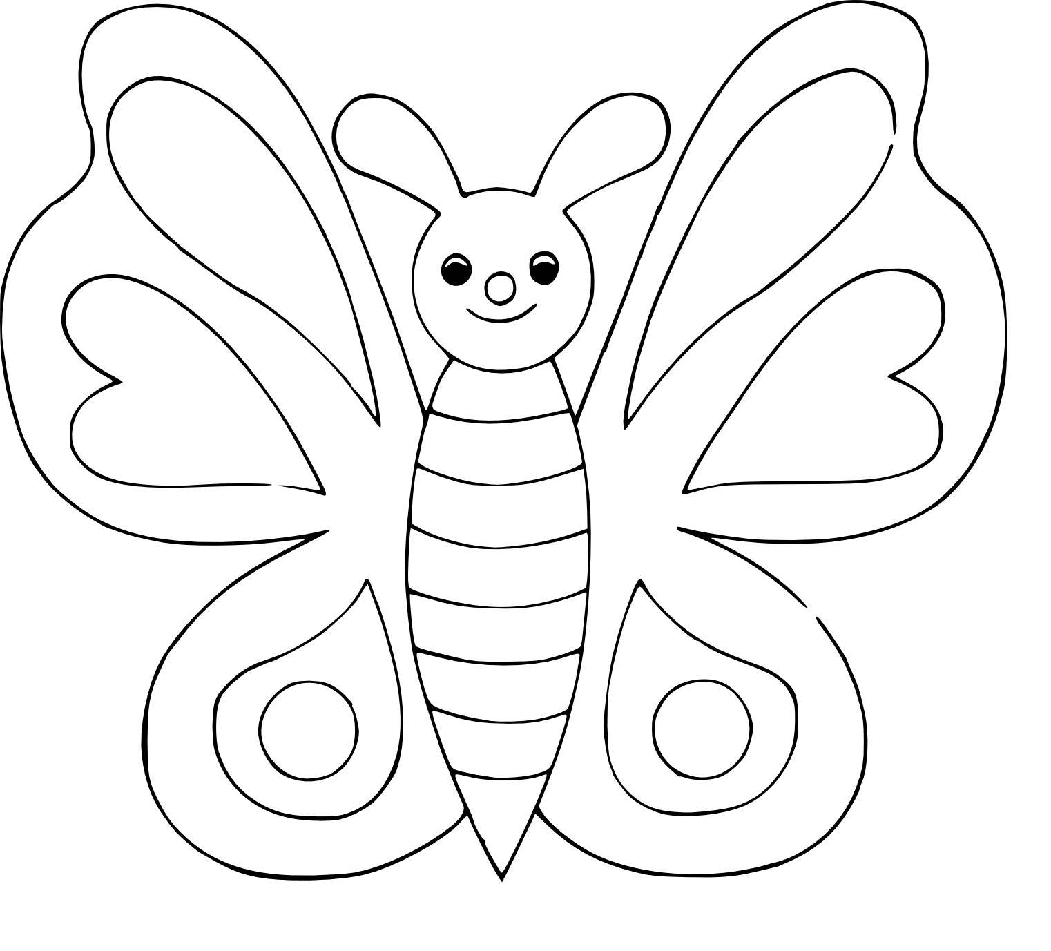 Coloriage papillon simple à imprimer