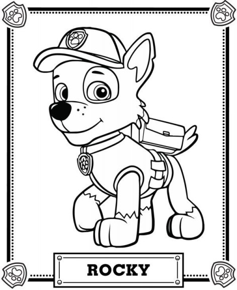 Coloriage Paw Patrol Rocky