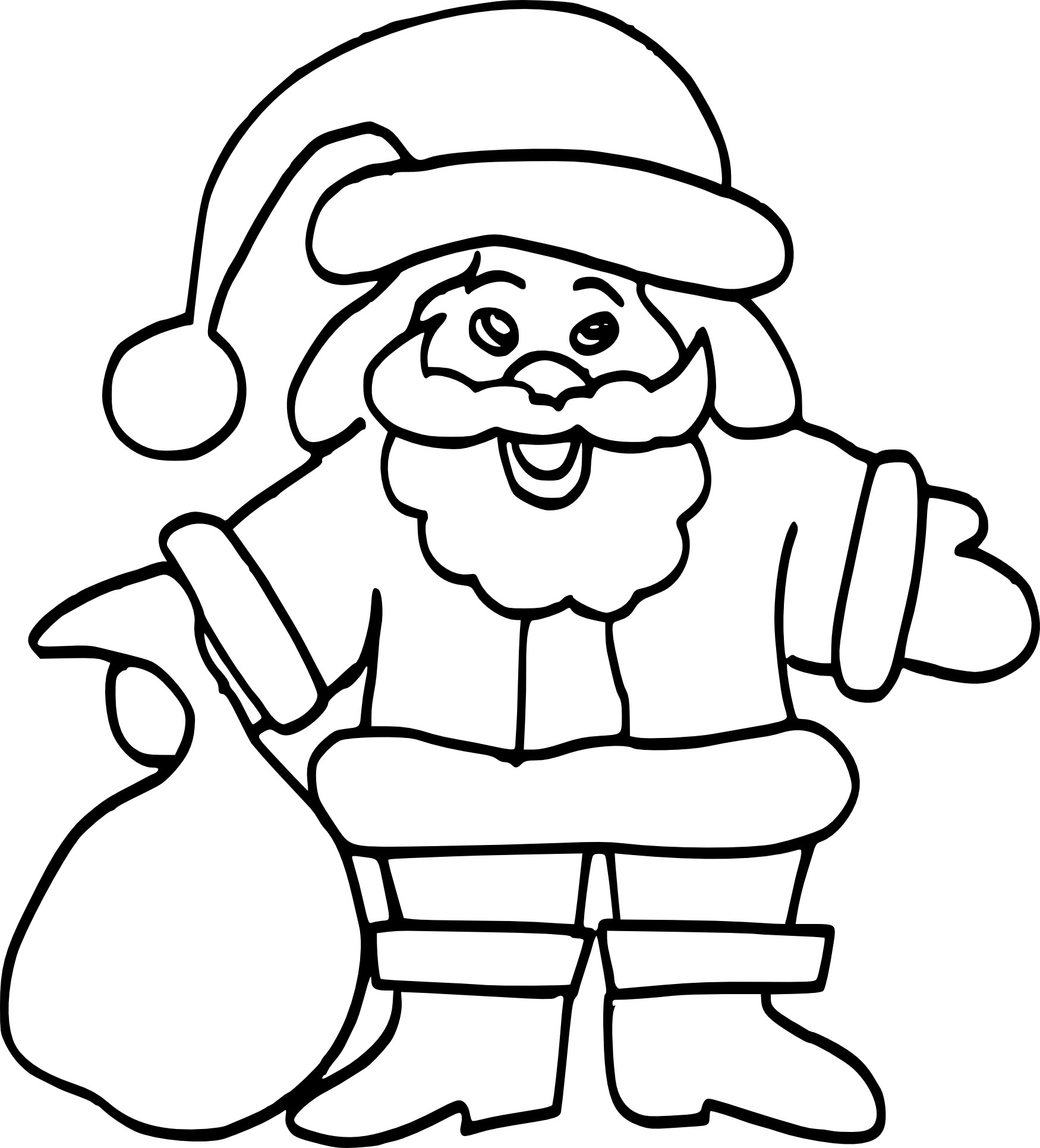 Coloriage p re no l facile imprimer - Pere noel facile a dessiner ...