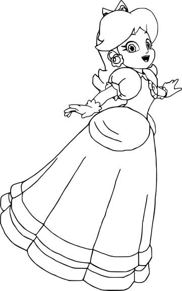 Coloriage princesse Daisy