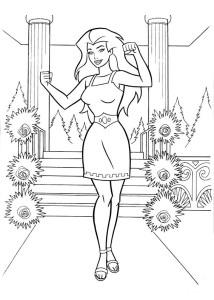 Coloriage princesse Diana