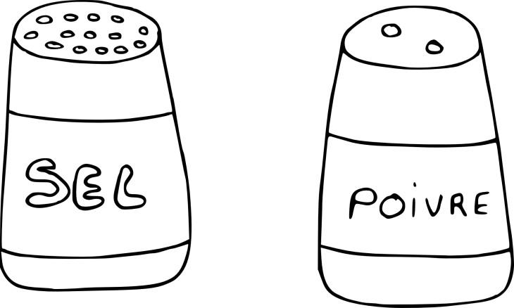 Coloriage sel et poivre