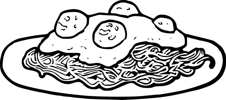 Coloriage Spaghetti Bolognese