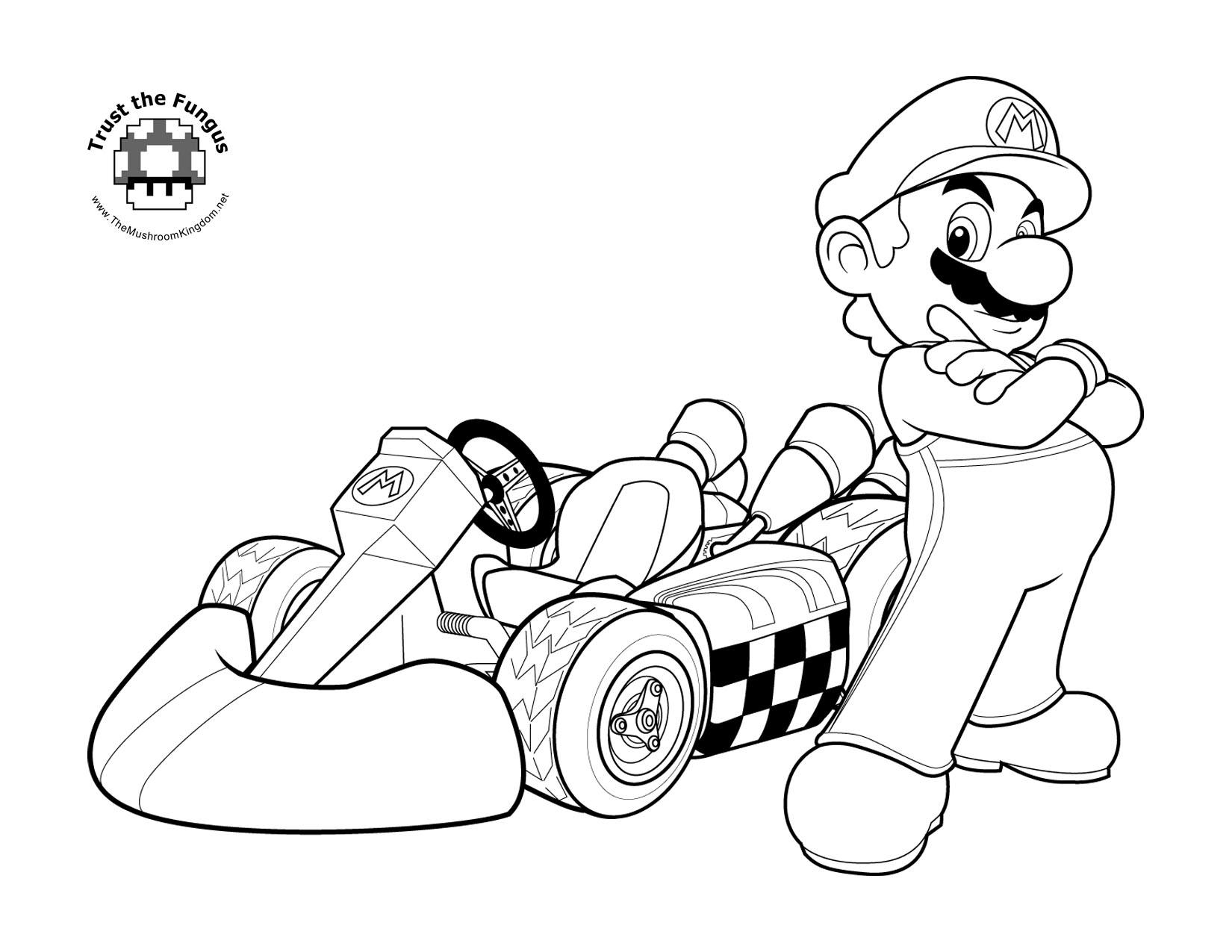 Coloriage Super Mario Kart A Imprimer