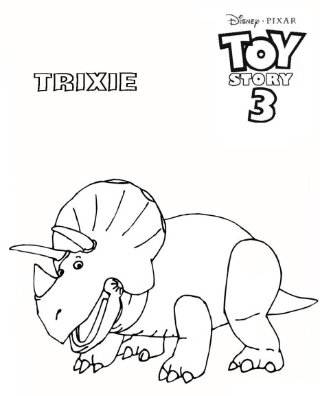 Coloriage Trixie Toy Story 3