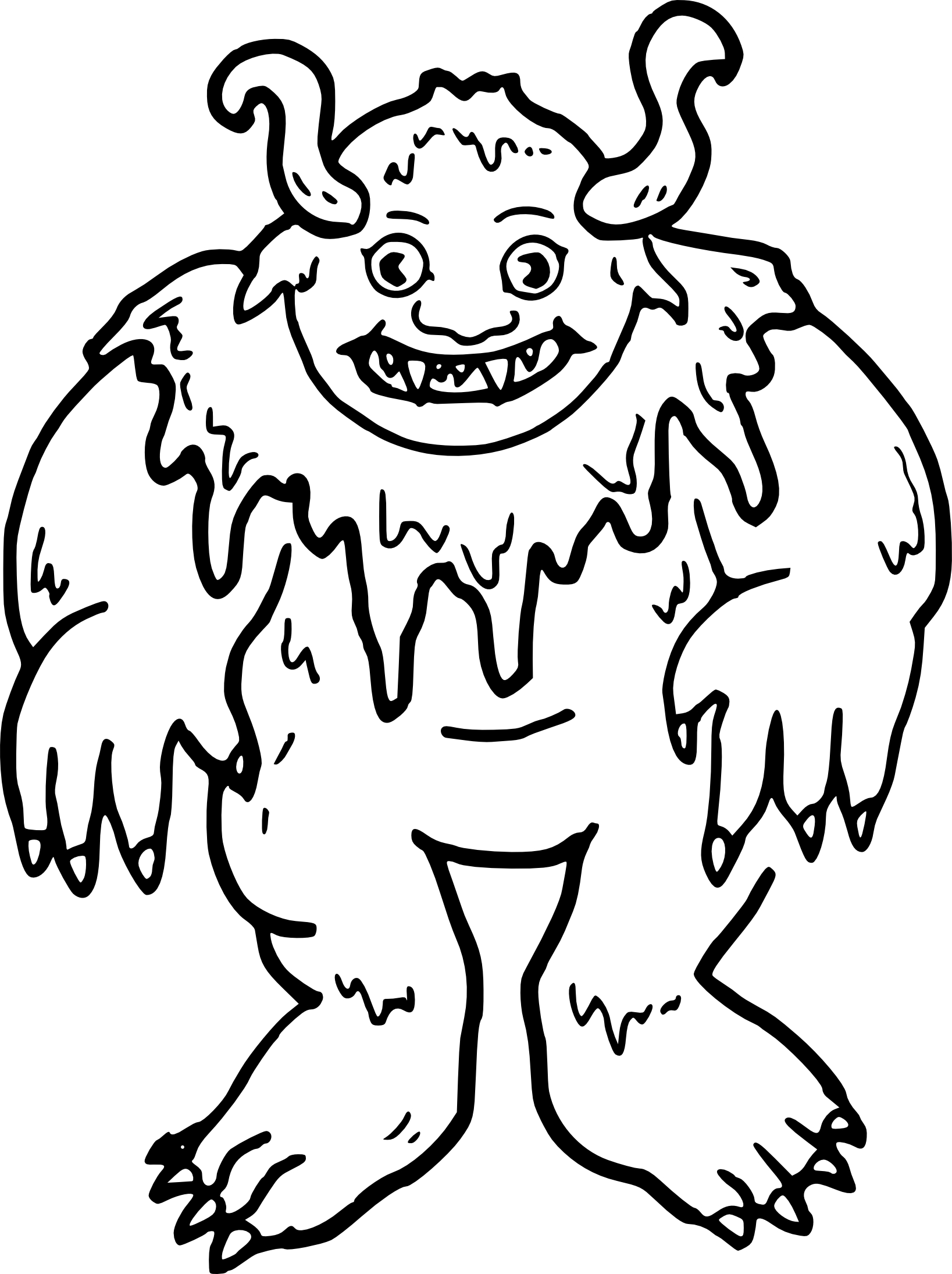 Coloriage troll
