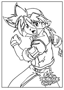 Coloriage Tyson Beyblade