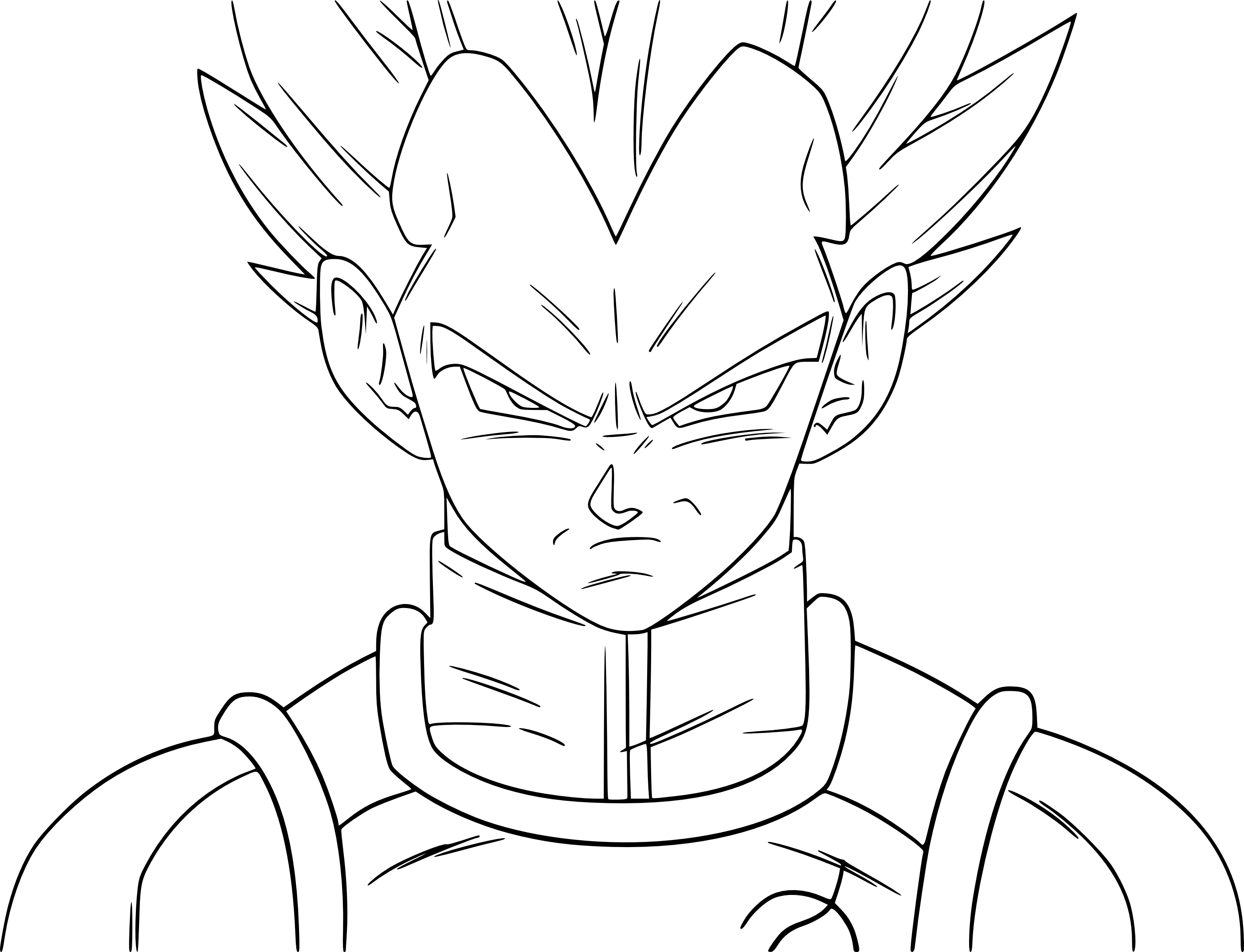 Coloriage vegeta ssj bleu imprimer - Dessin dragon ball z facile ...