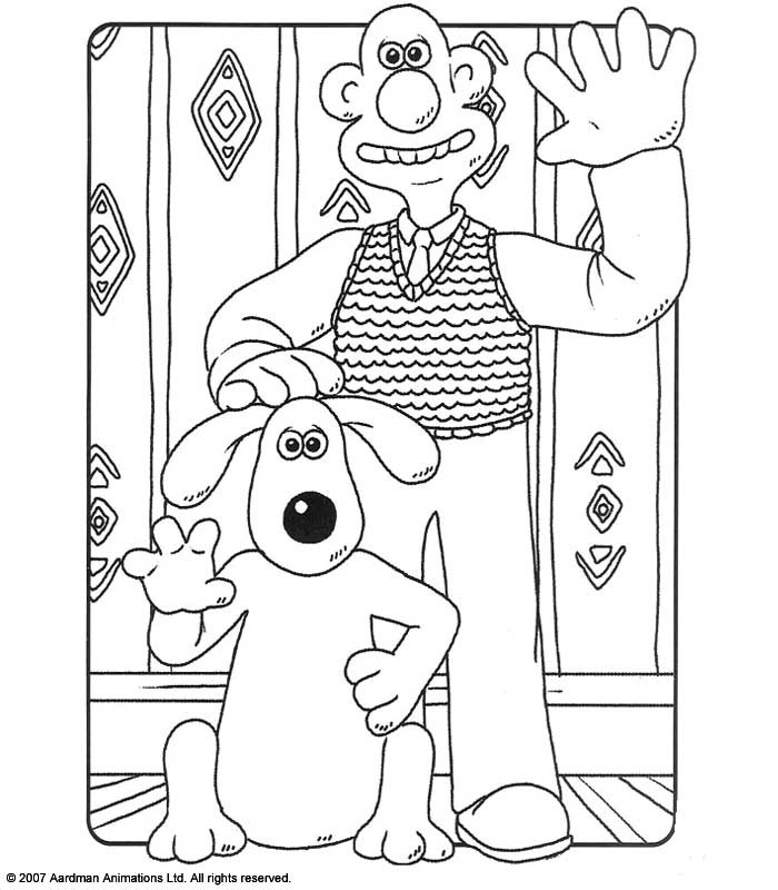 Coloriage Wallace et Gromit