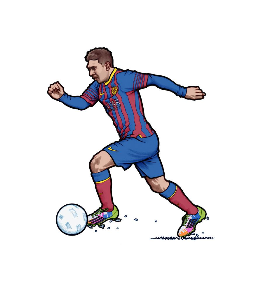 Coloriage Lionel Messi à Imprimer