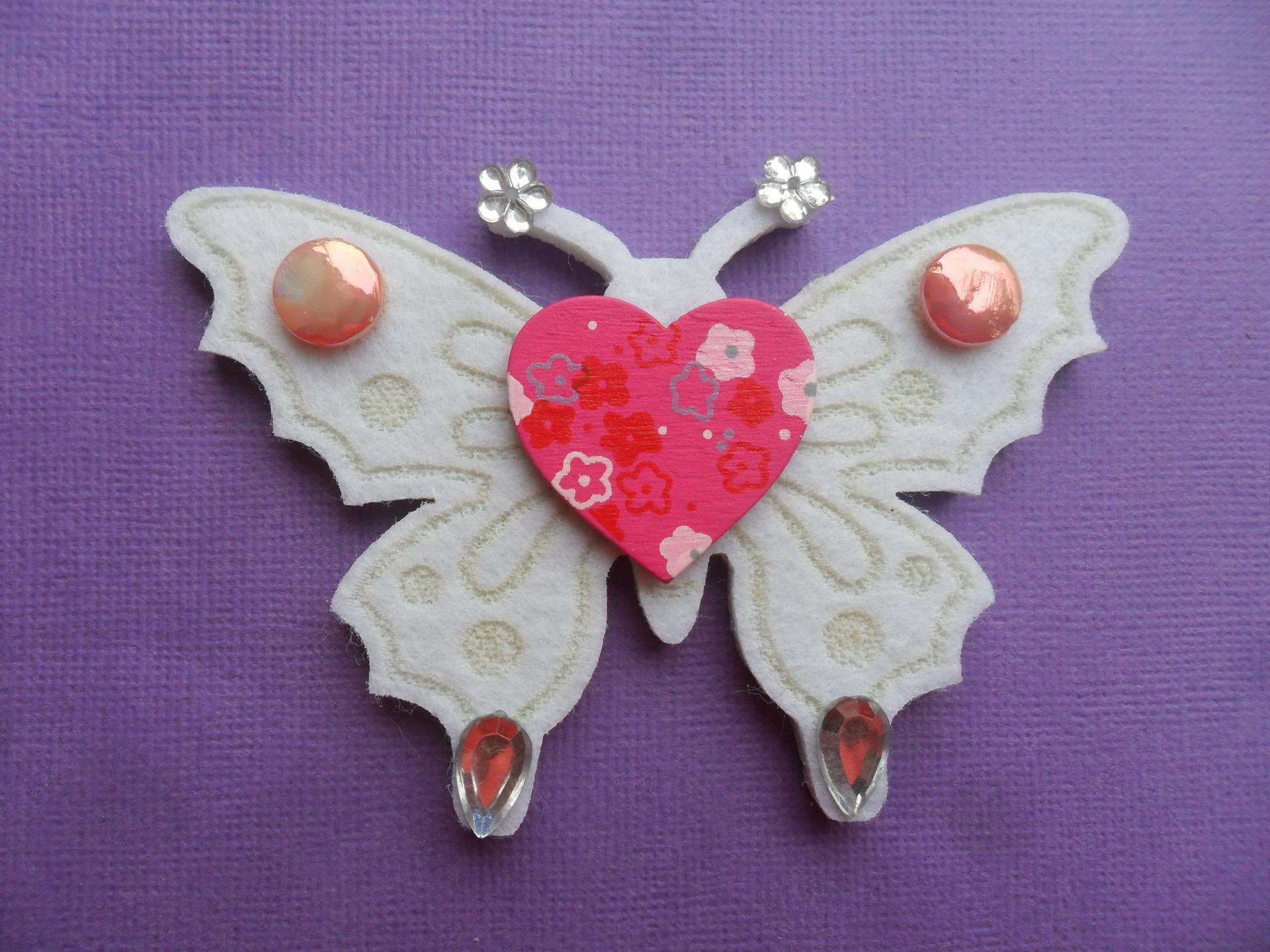 Coloriage Papillon Coeur à Imprimer