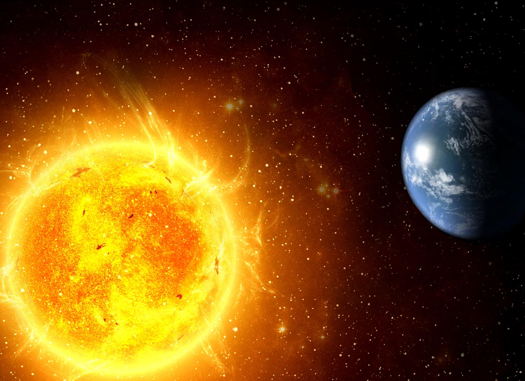 Coloriage Planete Terre Et Soleil A Imprimer